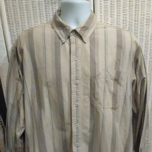 St Johns Bay Stripped button dn long sleeve shirt